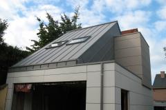 Zink staande naad in Quartz als dakbedekking