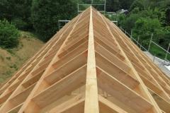 Dakstructuur als onderdeel van een houtskeletbouw