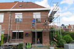 Aanvang van een dak renovatie